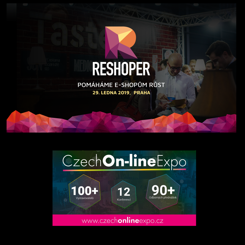 Jedeme na RESHOPER 2019 a CZECH ON-LINE EXPO 2019!